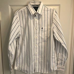 American Eagle mens button striped shirt Medium